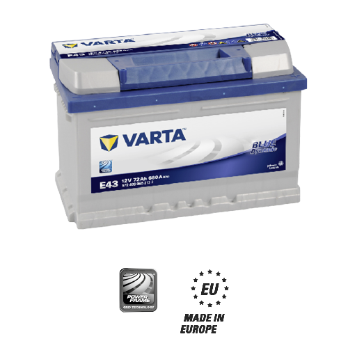 Varta blue dynamic E43